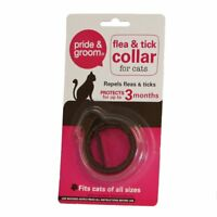 2 x Pride & Groom Flea & Tick Collars For Cats One Size Protects Upto 3 Months