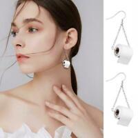 2020 Mode Silber TOILETTENPAPIER Rollringe Ohrringe Sterling Ohrring Geschenk DE