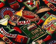SOUTHWESTERN CONDIMENTS   MOUSE PAD  IMAGE FABRIC TOP RUBBER BACKED