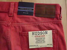 "TOMMY HILFIGER  HUDSON STRAIGHT FIT JEANS W31""L34"" RED (ORIGINAL) 26"