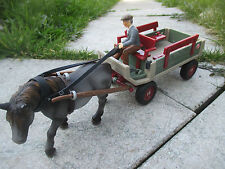SCHLEICH 40190 Kutsche mit Pferd Geschirr Kutscher - Pferdekutsche ~ 1A Zustand