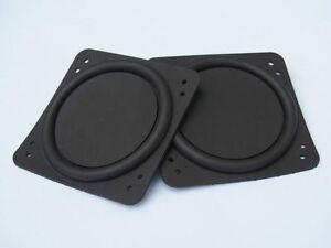 2pcs 75x75mm Bass Speaker Passive Radiator Auxiliary Bass Rubber Vibration Plate