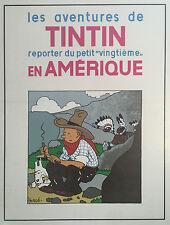 Serigraphie Hergé  Tintin en Amérique Neuf