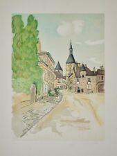Anne Marié - Lithographie signée - Le village