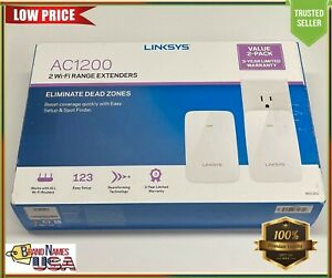 Linksys RE6350 AC1200 FAST Dual-Band Wi-Fi Range Extender 2 Pack Bundle
