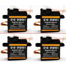 4Pcs EMAX ES9051 4.3g Micro Digital Servo for Airplane RC Model