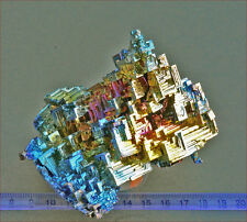 Very large piece of 'architectural' bizmuth crystals. Superb colours. 1282