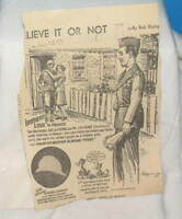 RIPLEY'S BELIEVE IT OR NOT CLIPPING 1943 SGT J.V. STONE
