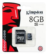 Lot of 2 Kingston 8GB Class4 Micro SD Micro SDHC (=16GB) TF T-Flash Memory Card