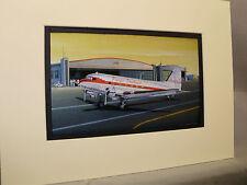 Douglas DC 3 Pacific Southwest Airliner Model Airplane Box Top Art Color