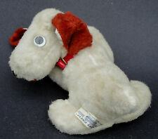 Reliable Canada Dog White Silk Plush c1950s Original Red Collar Tush Seam Tag