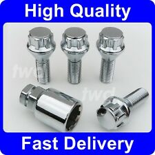 ALLOY WHEEL LOCKING BOLTS TO FIT BMW X5 ALLOY WHEELS ON VW TRANSPORTER T5 [6Z]