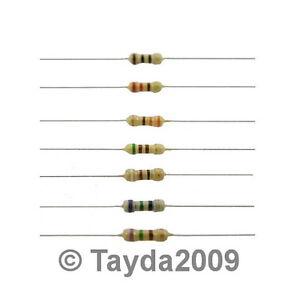 50 x Resistors 470 OHM OHMS 1/4W 5% Carbon Film