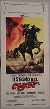 Locandina IL SEGNO DEL COYOTE 1963 FERNANDO CASANOVA MARIO FELICIANI G.RUBINI
