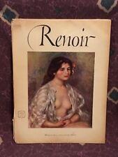 Vintage Renoir Art Prints Set Of (16) Tipped-In Abrams 1952