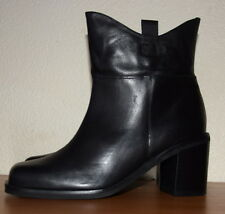 John Lewis Shanghai Leather Block Heels black Ankle Boots Size UK 8 RRP £110