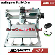 3 Axis Pcb Milling DIY CNC 2418+500mw  Wood carving router Pvc Engraver machine