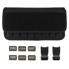 Black Molle 8 Mag Pouch with Cover Pistol Magazine Storage Pouch with Magic Taps