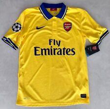 Camiseta Arsenal amarilla Nike 2013/2014 Santi Cazorla (talla M)