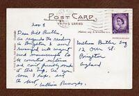 WILLIAM BURROUGHS 1965 RARE HANDWRITTEN SIGNED British Postcard CANCELS READING