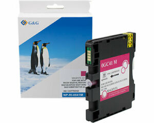 G&G Ink Cartridge Compatible With Ricoh GC41M Magenta