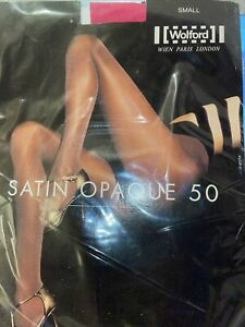 Wolford Satin Opaque Tights Size: Small Color: Film (Pink)  11277 -12
