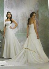 Embroidery Satin A-line Plus Size Wedding Dresses