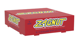 Zagnut Coconut Candy bar Peanut Butter  (Case of 18) 1.51 oz Individually Wrappe