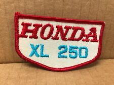 "VINTAGE ORIGINAL 1970'S EMBROIDERED HONDA XL 250 JACKET PATCH 3.5"" X 2"""