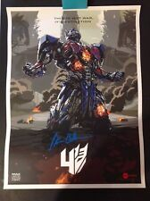 TRANSFOMERS SIGNED/AUTOGRAPHED MOVIE POSTER PETER CULLEN