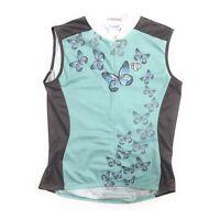 PEARL iZUMi Originals Womens Cycling Jersey Sleeveless Butterfly Blue Size XL