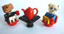 2 x LEGO® Fabulandfiguren (Es ist Teezeit)Tisch,Stuhl Kanne wie auf dem Foto.