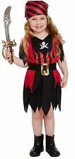 Toddler Girls Pirate Fancy Dress Up Party Costume Age 3 World Book Day NEW