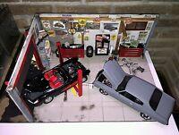 Diorama garage HOT ROD 1/18