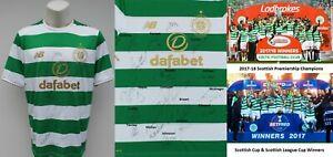 2017-18 Celtic Home Shirt Squad Signed inc. Brown, Tierney, Edouard & McGregor