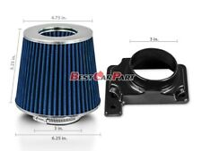 BLUE Mass Air Flow Sensor Intake MAF Adapter + Filter For 00-05 Eclipse 2.4/3.0L