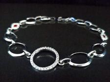Markenlose Echtschmuck-Armbänder im Ketten-Stil mit Zirkon-Hauptstein