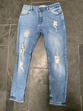 Boys Illusive Blue Ripped Skinny Jeans Age13/14