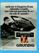 QUATTROR977-PUBBLICITA'/ADVERTISING-1977- GRUNDIG AUTORADIO WKC 2520 STEREO
