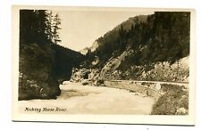 Vintage Postcard RPPC CANADA Kicking Horse River