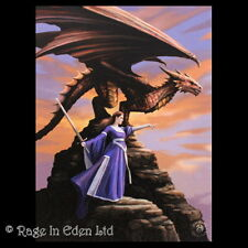 *SENTINEL* Gothic Fantasy Dragon Art 3D Postcard By Anne Stokes (15x10cm)