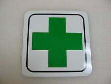 GREEN CROSS Metal Sign 4 Army Marine Military Reenactor Hospital First Pharmacy