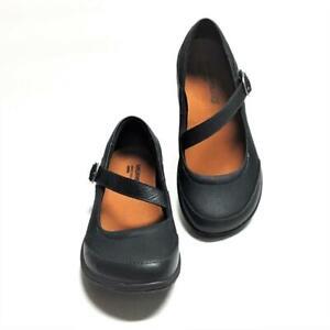 Merrell Dassie MJ Femme 7 37.5 Mary Jane Chaussures Cuir Noir Boucle Neuf