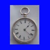 Stunning Silver Swiss Lepine KW  Cylinder Pocket Watch Ca. 1875