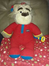 Vintage Bedtime Bubba Bear w/ Flashlight. 1997 Plush Toy bear In Pj's. Read All.
