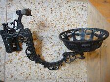 Vtg. Wrought Iron Oil Lamp Holder/Wall Sconce Dr. Lamp