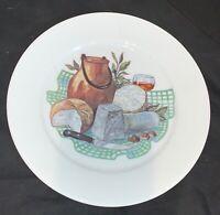 "Vintage Set of 4 Porcelaine de Sologne Limoges France Wine Cheese 8.5"" Plates"