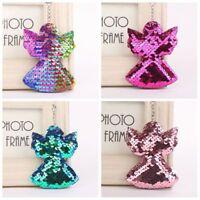 Women's Sequin Angel Key Chain Handbag Keyring Gift Fashion Unique Jewelry~