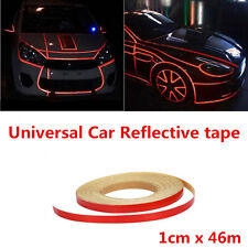 46m Red Reflective Sticker Car SUV Motorcycle Body Stripe DIY Self Adhesive Tape
