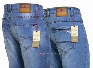 Jeans uomo elasticizzato pantaloni denim CHIARI slim fit tg 44/60 4 varianti